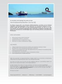 Stellenanzeige Oltmann Gruppe Vertrieb 2021